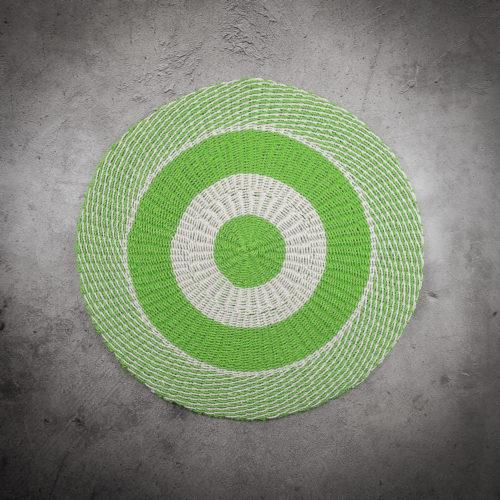 Alfombra redonda verde circulos