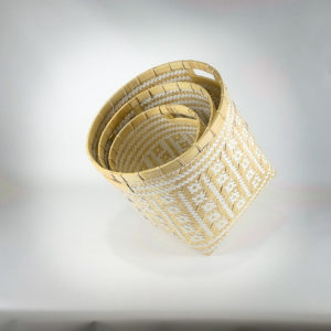 Cestos decorativos bambú