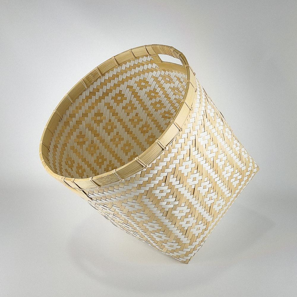 Cestos decorativos bambú grandes