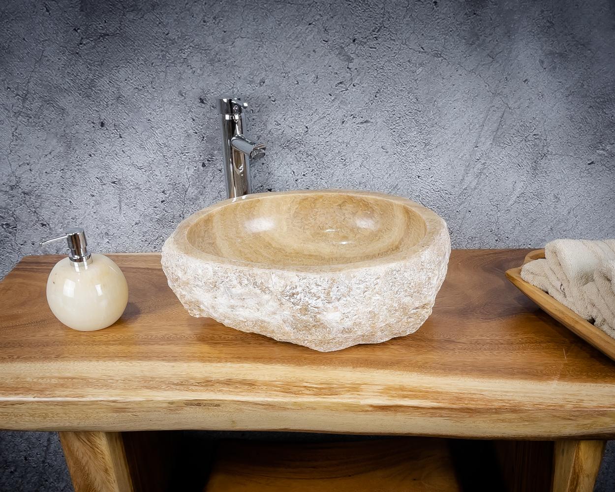 Lavabo de piedra de Ónyx de 44x40x15cm