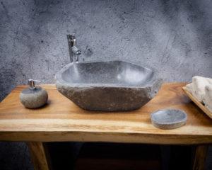 Lavabo de piedra River (imagen real). Medida 50x36x16cm