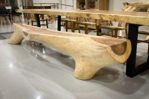 Banco de 3 metros de tronco natural