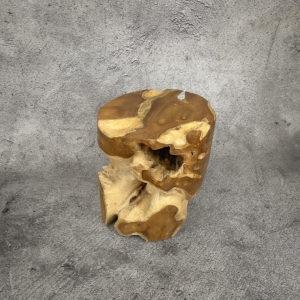 Taburete/mesa auxiliar redonda de madera de Teca maciza de 46x40cm aprox.