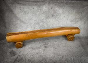 Banco rústico de madera de Teca de 200x33x36cm