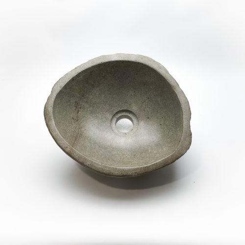 Lavabo pequeño de piedra River (imagen real). De 29x33 | Naturaleza en tu baño de mirococo.com