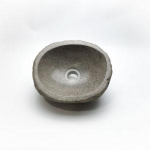 Lavabo pequeño de piedra River (imagen real). De 0x0 | Baños bonitos en mirococo.com