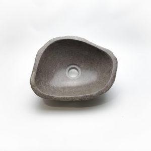 Lavabo pequeño de piedra River (imagen real). De 31x25