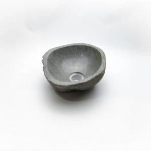 Lavabo pequeño de piedra River (imagen real). De 29x27cm