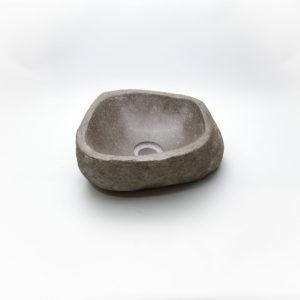 Lavabo pequeño de piedra River (imagen real). De 29x31cm