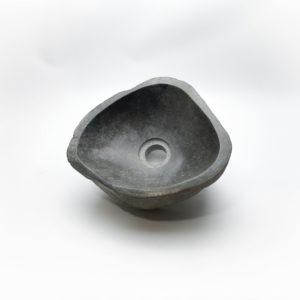 Lavabo pequeño de piedra River (imagen real). De 28x25cm