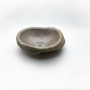 Lavabo pequeño de piedra River (imagen real). De 33x27cm