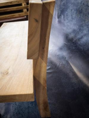 Banco de madera de Suar con respaldo de 200cm