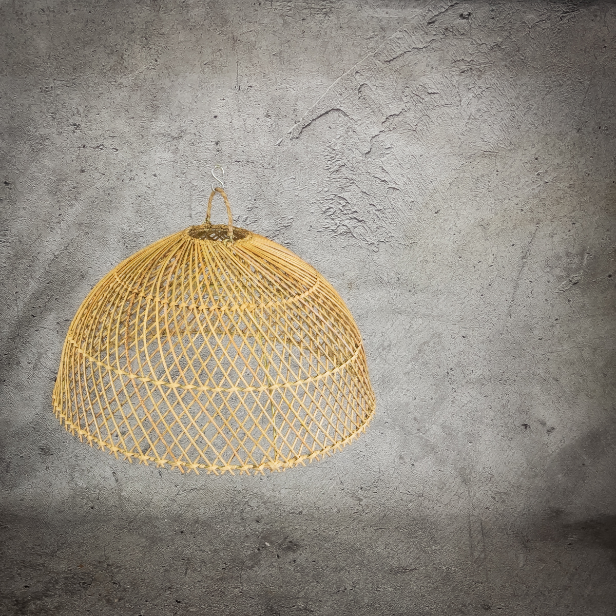 Lámpara de Rattan Semicircle de 50cm