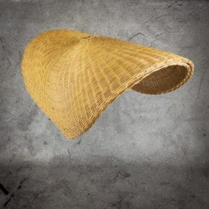Lampara de rattan Hat de 100x40cm
