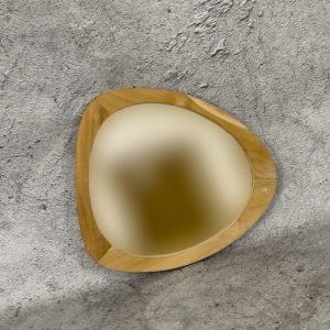 """Espejo decorativo de madera de Teca """"Eye"""""""