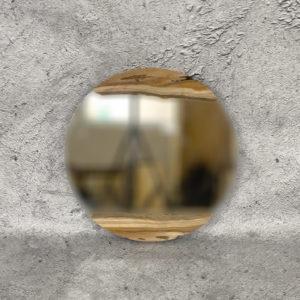 Espejo redondo decorativo de madera de Teca