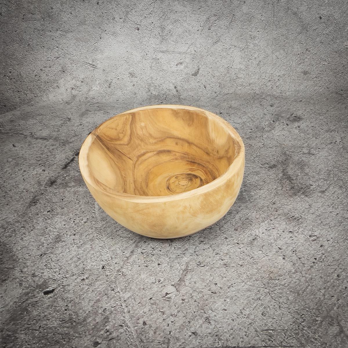Bol redondo de madera de una pieza de 35x20cm (aprox)