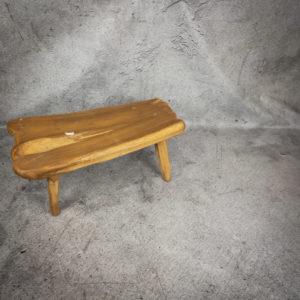 Mesa café rústica de madera de Teca de 90x47cm