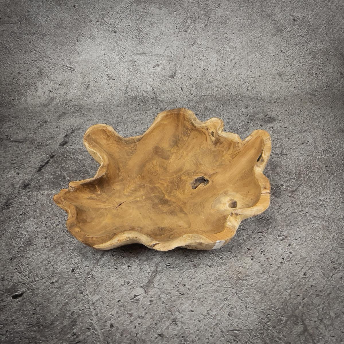 Bol rústico de madera de Teca de 55x40x8cm