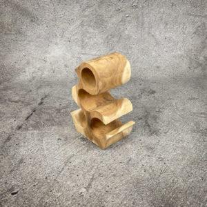 Botellero de madera de Suar de una pieza de 30x16x40cm