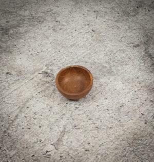 Bol redondo pequeño de madera de Teca de 10x5cm