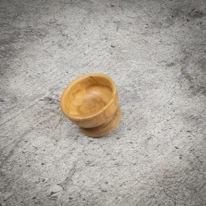Bol redondo pequeño de madera de Teca de 13x8cm