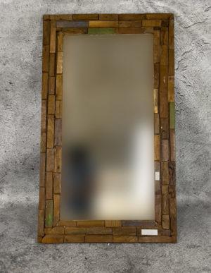 Espejo de madera de Teca reciclada de 65x110cm
