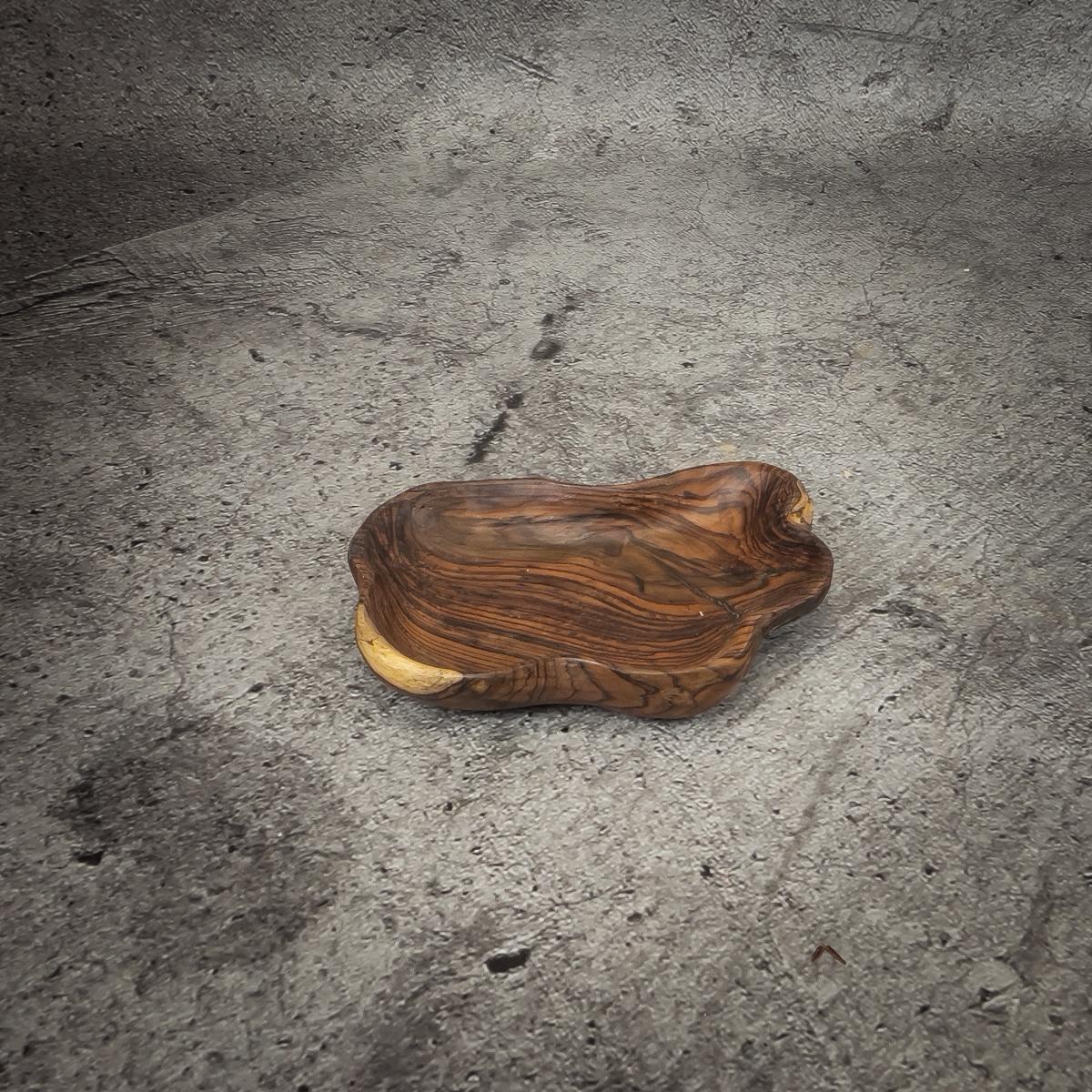 Bol de madera de Palo de Rosa natural de 32x22x5