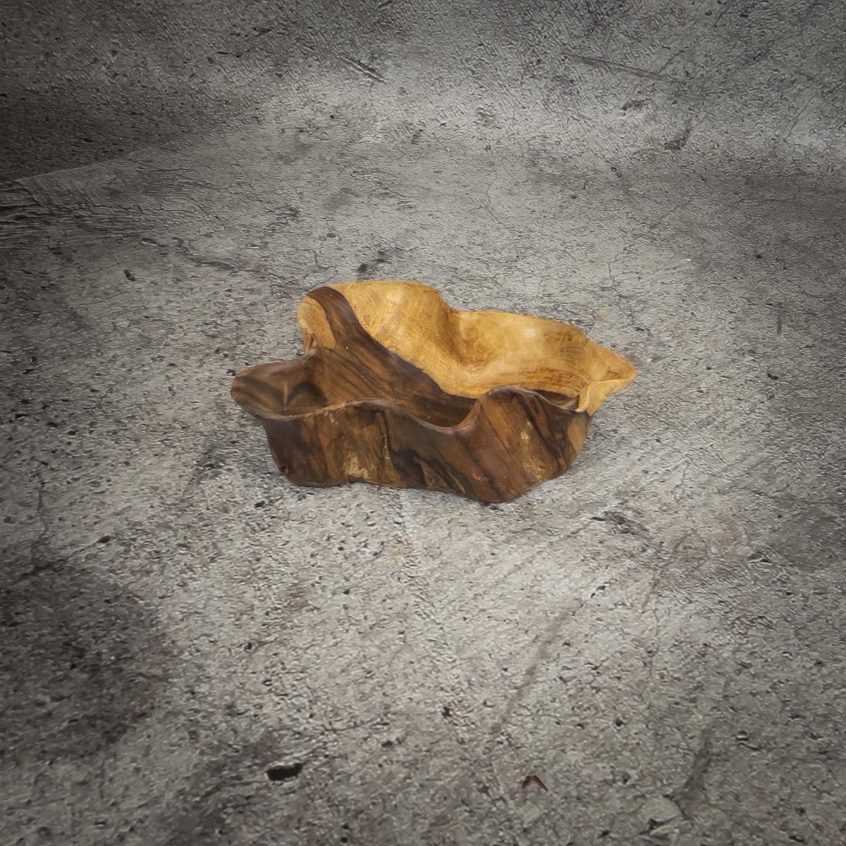 Bol de madera de Palo de Rosa natural de36x27x11