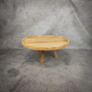 Mesa café de madera de Teca reciclada de 80x40