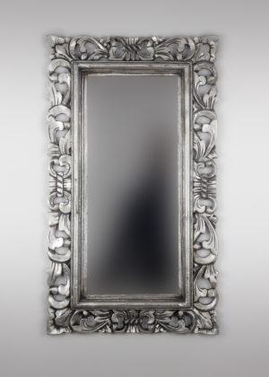 Espejo decorativo de madera Kamblung de 40x70cm en Plata ¡OFERTA!
