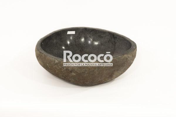 Lavabo negro de rio de 43x39 piezas únicas   mirococo.com