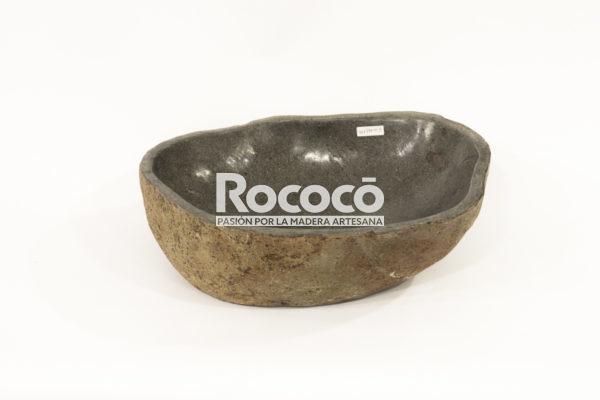 Lavabo negro de rio de 46x38 piezas únicas   mirococo.com