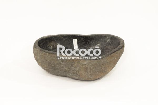 Lavabo negro de rio de 43x29 piezas únicas | mirococo.com