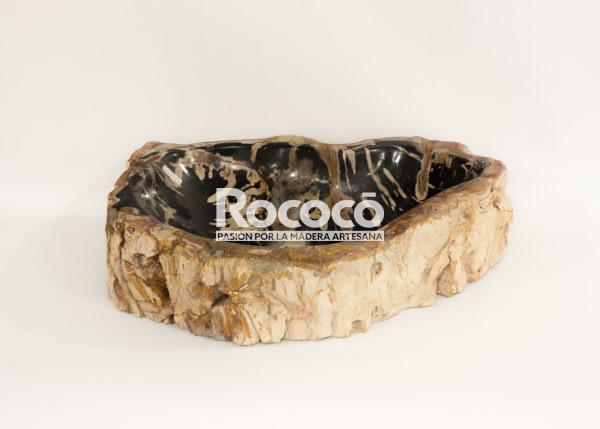 Lavabo de madera fosilizada de 56x41 piezas únicas | mirococo.com