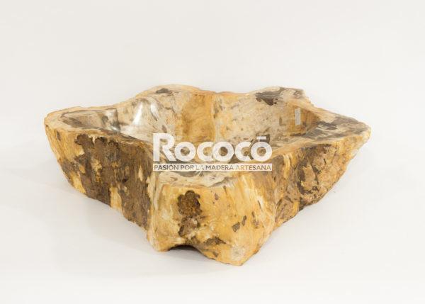 Lavabo de madera fosilizada de 55x53 piezas únicas | mirococo.com