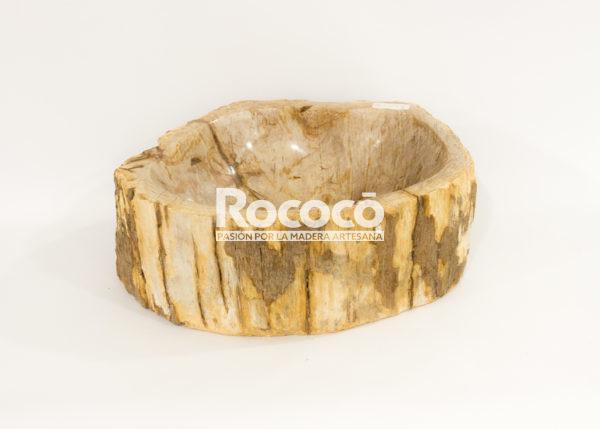 Lavabo de madera fosilizada de 46x35 piezas únicas | mirococo.com