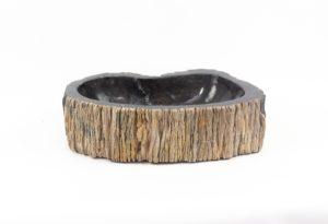 Lavabo de madera fosilizada de 53x30 piezas únicas   mirococo.com