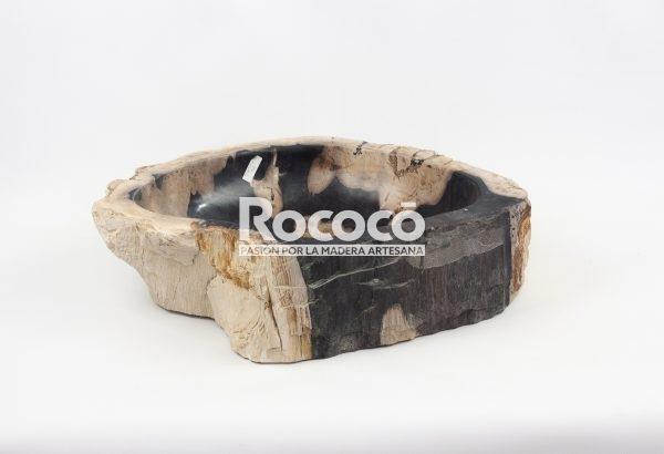 Lavabo de madera fosilizada de 54x42 piezas únicas | mirococo.com