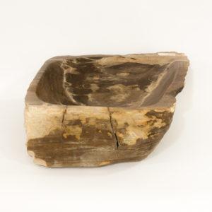 Lavabo de madera fosilizada de 41x43 piezas únicas | mirococo.com