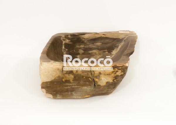 Lavabo de madera fosilizada de 41x43 piezas únicas   mirococo.com