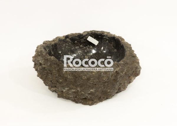 Lavabo de piedra vulcan wastafel de 42x40 piezas únicas   mirococo.com