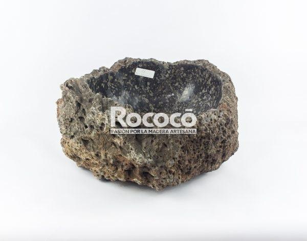 Lavabo de piedra vulcan wastafel de 44x44 piezas únicas | mirococo.com