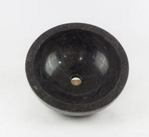 Lavabo redondo piedra negra exterior rugoso de 40x40 | mirococo.com