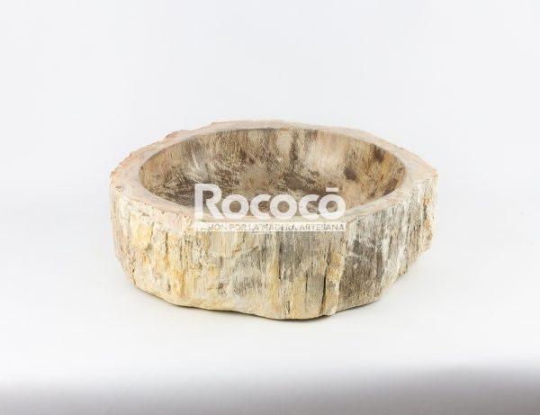 Lavabo de madera fosilizada de 40x50 piezas únicas | mirococo.com