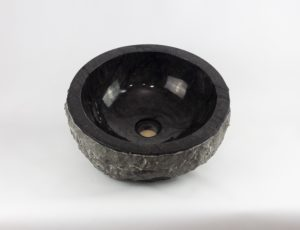 Lavabo de redondo piedra negra canto grueso de 42x42 | mirococo.com