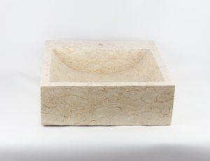 Lavabo cuadrado de mármol pulido de 45x45 piezas únicas | mirococo.com