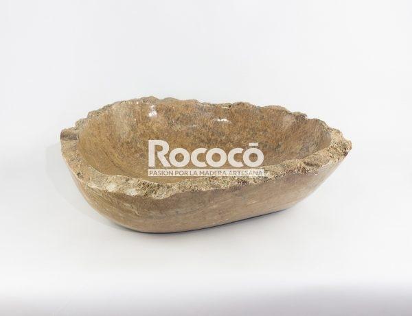 Lavabo oval de ónyx con canto natural de 54x44 piezas únicas | mirococo.com