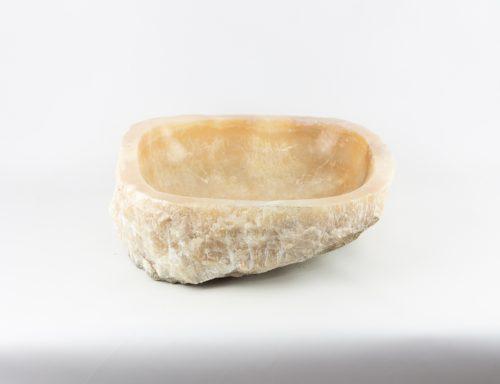 Lavabo redondo de mármol wastafel exterior rústico de 43x43 piezas únicas | mirococo.com