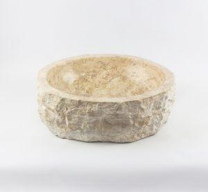 Lavabo redondo de mármol wastafel exterior rústico de 43x43 piezas únicas   mirococo.com